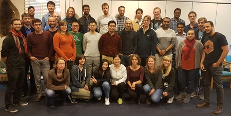 The participants and lecturers at the data assimilation crash course.