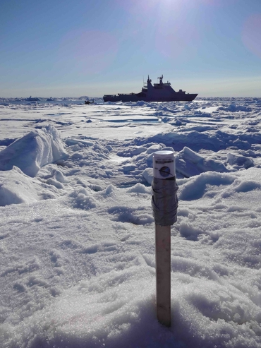 Sea ice drift from GPS tracker: Photo: S. Muckenhuber, NERSC.