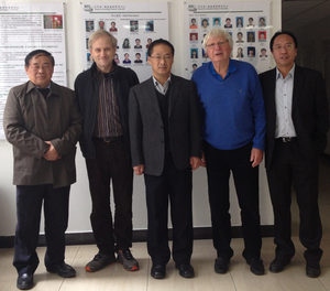 Academician Hui-Jun Wang (middle) surrounded by Chinese and Norwegian colleagues at the NZC in October 2013.