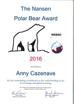 Nansen Polar Bear Award 2016.