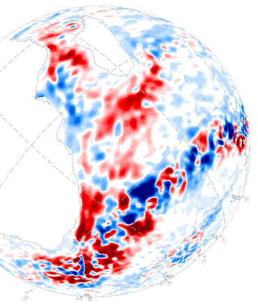 Satellite measurements from the last two decades reveal accelerated eddies moving around Southern Africa. Movement of eddies from the Indian to the Atlantic Ocean and their transport of warm, salty water plays a vital role maintaining present day climate.