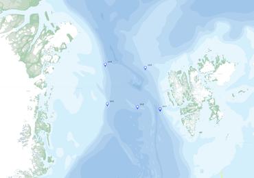 Oversiktskart viser operasjonsområdet, markert med steder hvor Rigger skal tas opp.