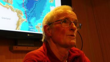 Prof. Yngve Kristoffersen ombord i Havsel.