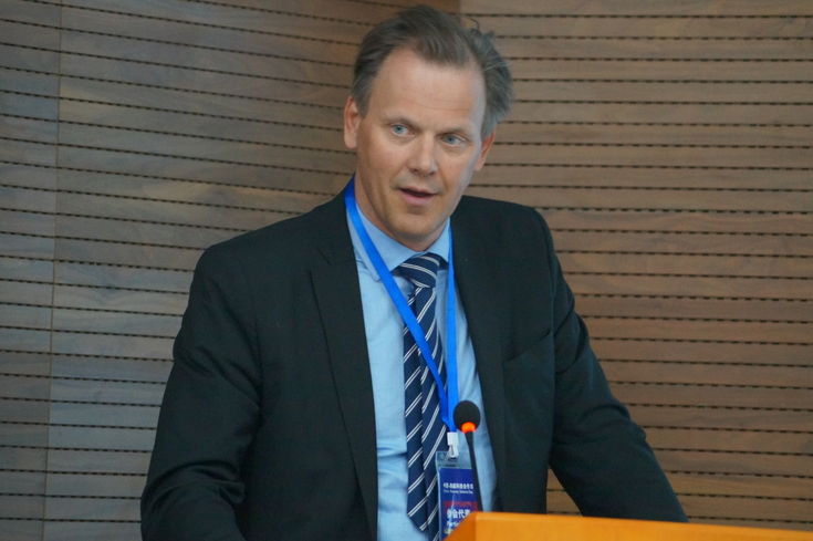 Also in Beijing: Director, Fridtjof Fossum Unander, from the Norwegian Research Council