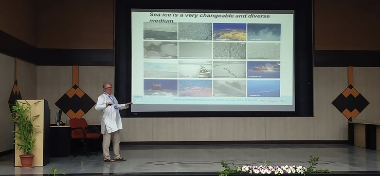 Lecture on sea ice: Lasse Pettersson from the Nansen Center in Bergen