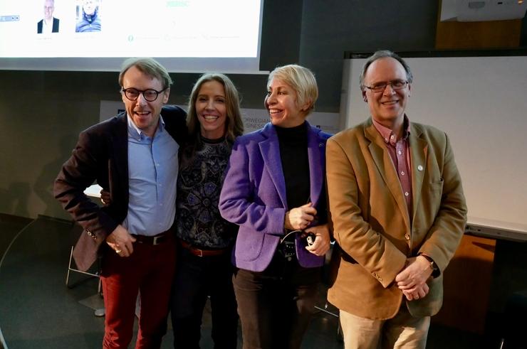 Innledere og paneldeltakere: Johnny A. Johannessen, Nina Jensen, Sissel Rogne og Jarl Giske