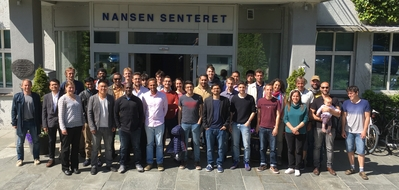 Participants at the 2nd Crash Course on EnKF Data Assimilation and the Nansen Center in 2019.