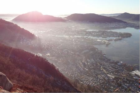 Giftlokket over Bergen en vinterdag. Foto: Tobias Wolf-Grosse.