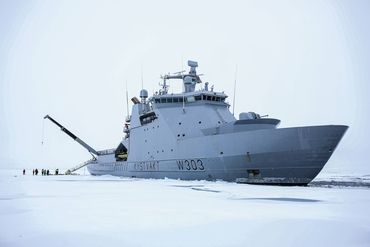 Photo:: The Norwegian KV Svalbard at the North Pole 21. August 2019. Credit: Norwegian Coast Guard.