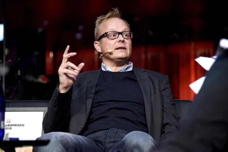 Vinner av Rosekjærprisen 2018: Sebatian H. Mernild mottok prisen i DR sitt konserthus i helgen (Foto: Henrik Frydkjær/DR.dk)