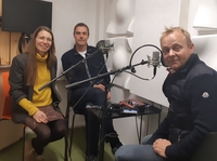 Podcast production: Gudrun Sylte, Tore Furevik and Sebastian H. Mernild in the studio