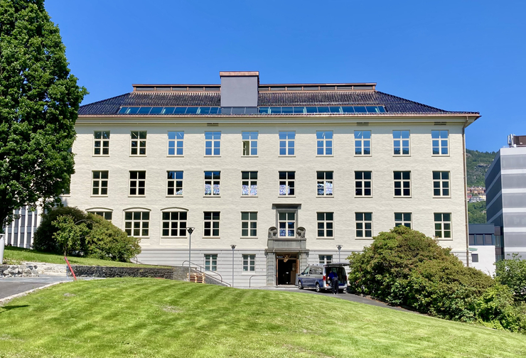 The East Wing of the Geophysical Institute building - our new location. Photo: Nansensenteret