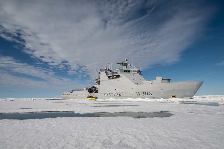 KV Svalbard in the Arctic