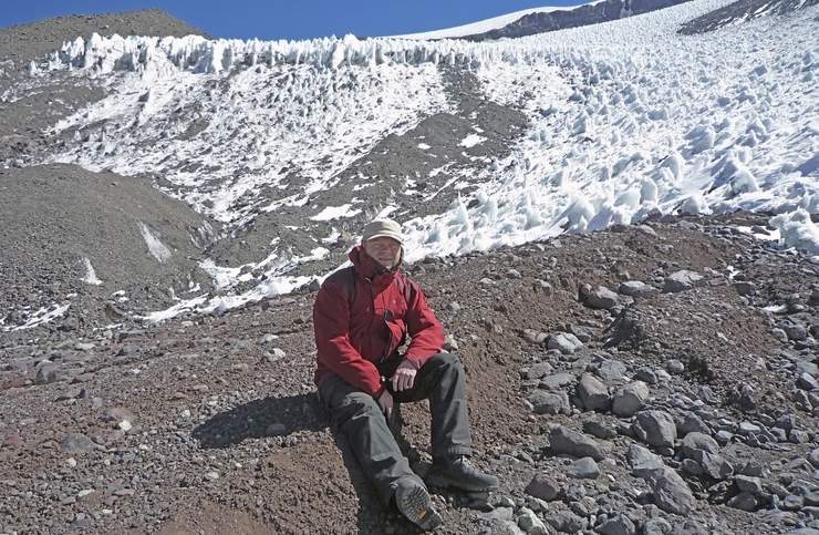In the Andes: Jeppe Kjeldahl Malmros was supervised by professor Sebastian H. Mernild - also on a field trip to Chile