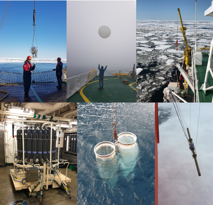 Operations at the stations: Photo: various from the joint research team