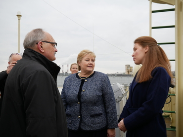 Visit: Prime Minister of Norway Erna Solberg and Director Leonid P. Bobylev.
