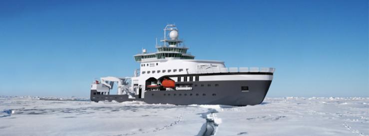 Nytt forskningsskip: Kronprins Haakon blir allerede tatt i bruk i 2018. Illustrasjon: Rolls Royce Marine (RRM)