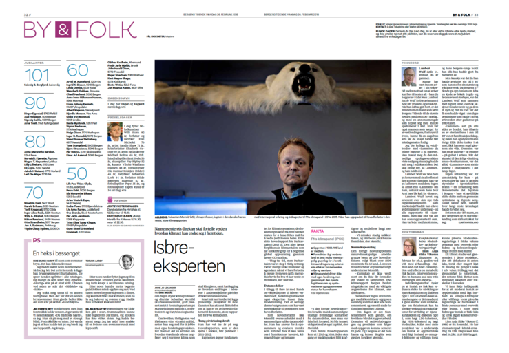 Sebastian H. Mernild i intervju med Bergens Tidende