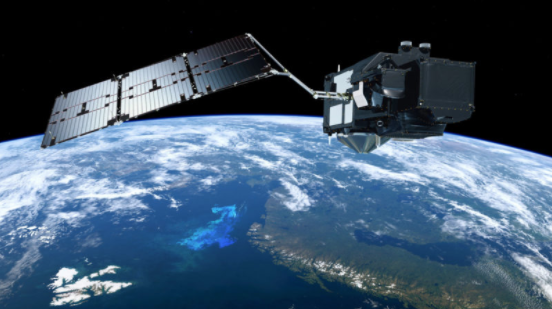 Photo Credit: ESA, ATG Medialab: A view of the Sentinel-3B satellite.