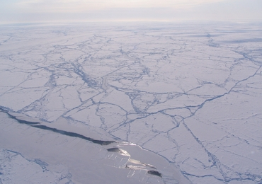 Fractures in sea ice in the Arctic Ocean: Credit: NASA/Sinead Farrell; https://www.nasa.gov/topics/earth/features/arctic-seaice-study.html